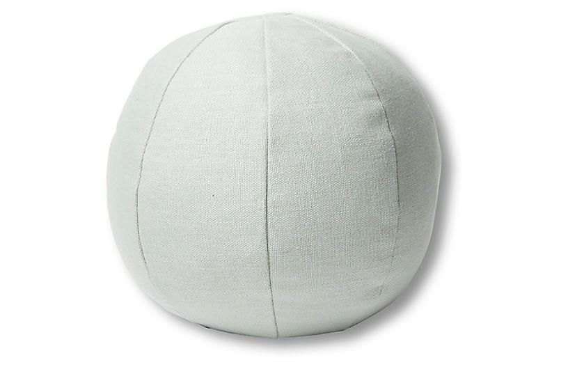 Emma 11x11 Ball Pillow, Sea Glass Linen