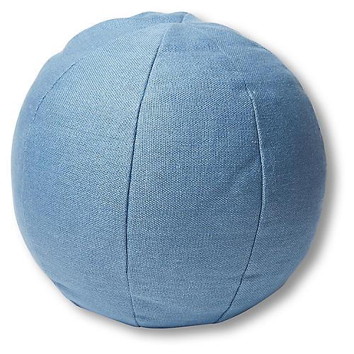 Emma 11x11 Ball Pillow, Chambray Linen