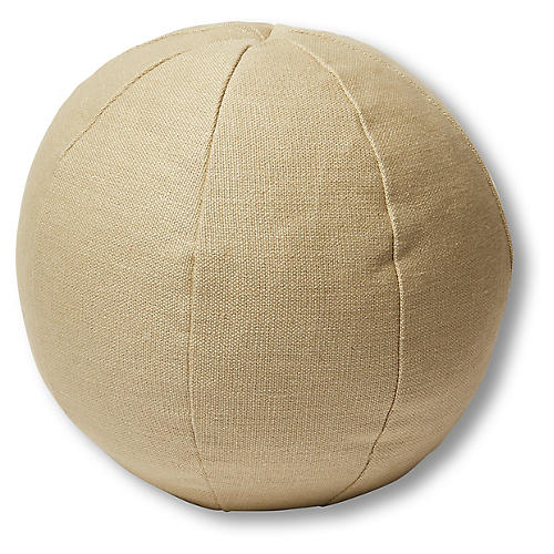 Emma 11x11 Ball Pillow, Straw Linen