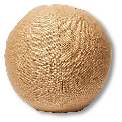 Emma 11x11 Ball Pillow, Camel Linen