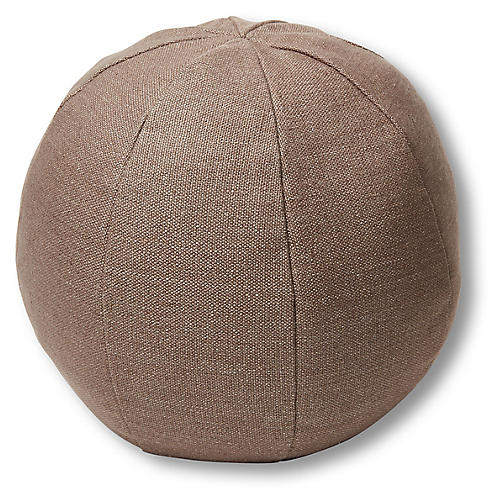 Emma 11x11 Ball Pillow, Earth Linen