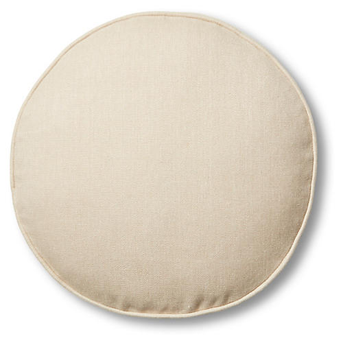 Claire 16x16 Disc Pillow, Dune Linen