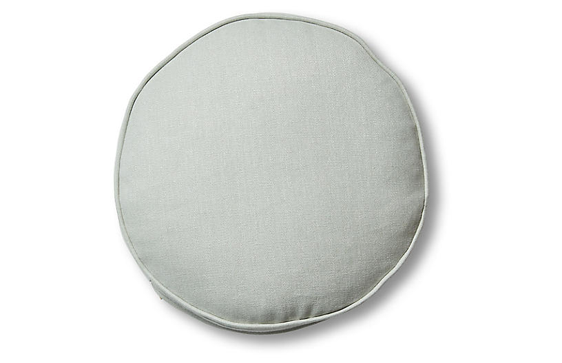 Claire 16x16 Disc Pillow, Sea Glass Linen