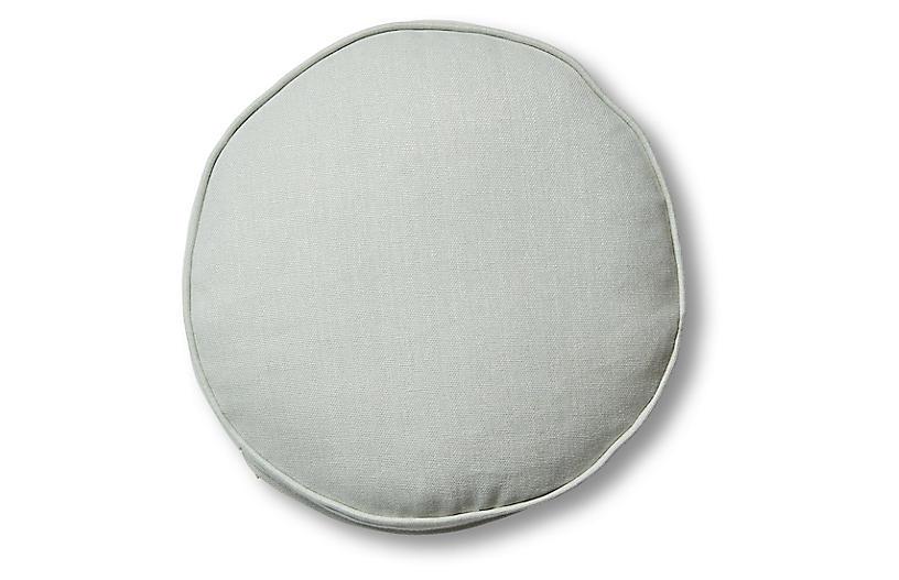 Claire 16x16 Disc Pillow, Sea Glass Linen