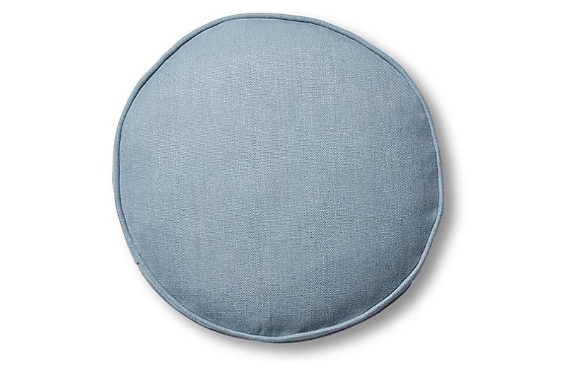 Claire 16x16 Disc Pillow, Smoky Blue Linen