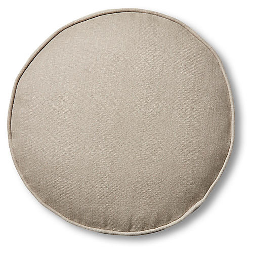 Claire 16x16 Disc Pillow, Stone Linen