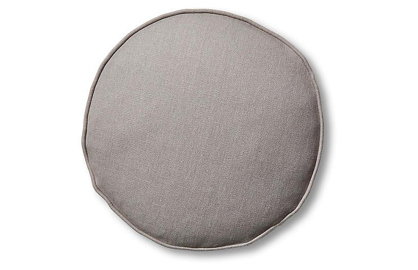 Claire 16x16 Disc Pillow, Light Gray Linen