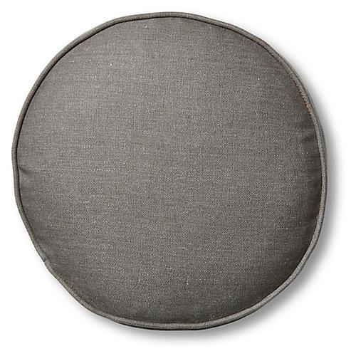 Claire 16x16 Disc Pillow, Charcoal Linen