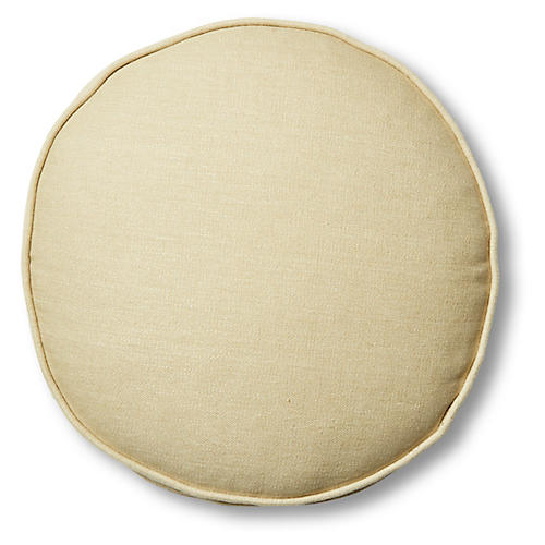 Claire 16x16 Disc Pillow, Straw Linen
