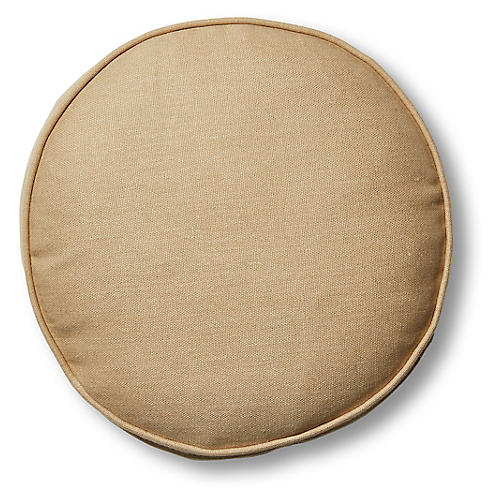 Claire 16x16 Disc Pillow, Hemp Linen