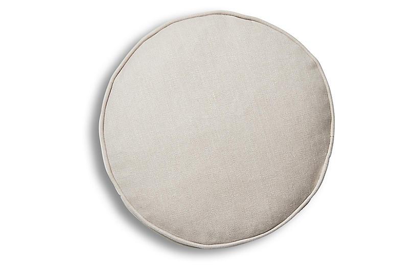 Claire 16x16 Disc Pillow, Quartz Linen