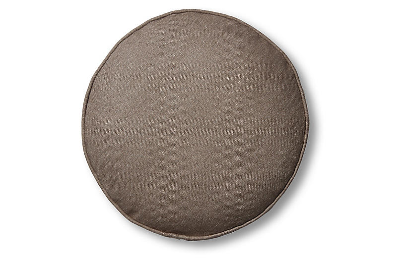 Claire 16x16 Disc Pillow, Earth Linen