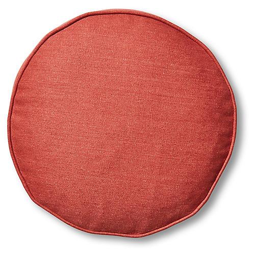 Claire 16x16 Disc Pillow, Rust Linen