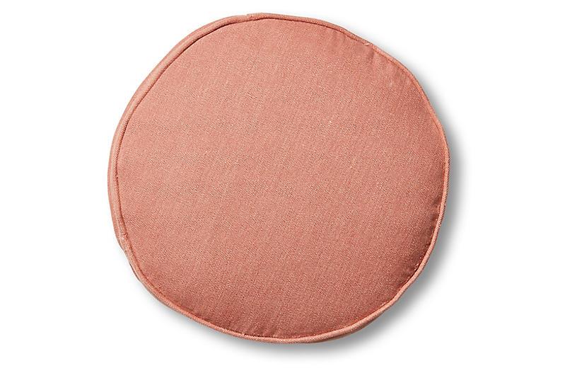 Claire 16x16 Disc Pillow, Rose Linen