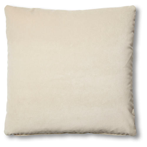 Hazel Pillow, Bisque Velvet