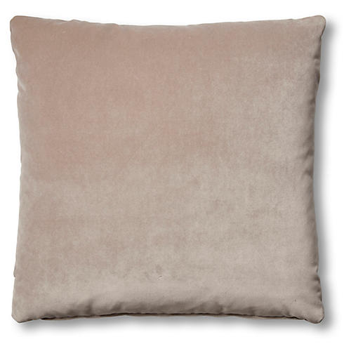 Hazel Pillow, Pebble Velvet