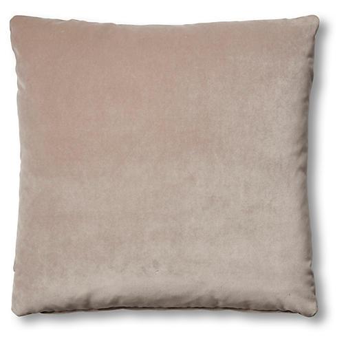 Hazel Pillow, Pebble Velvet