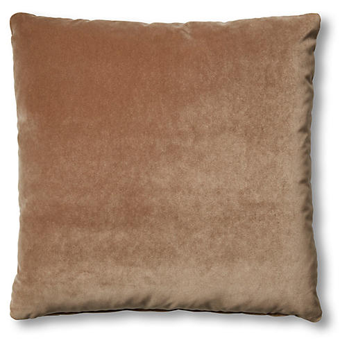 Hazel Pillow, Toffee Velvet