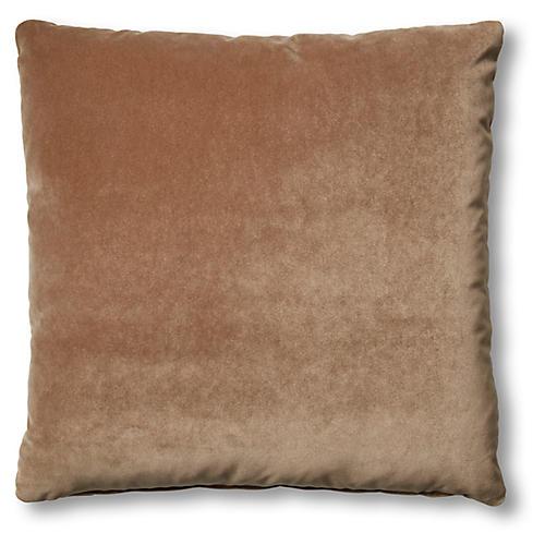 Hazel Pillow, Toffee Velvet