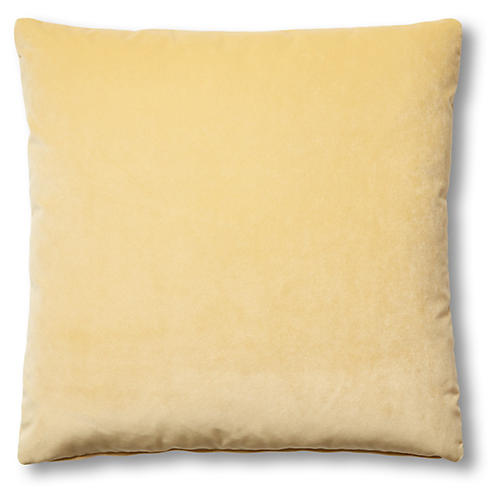 Hazel Pillow, Canary Velvet