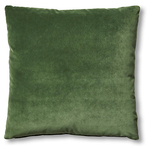 Hazel Pillow, Emerald Velvet