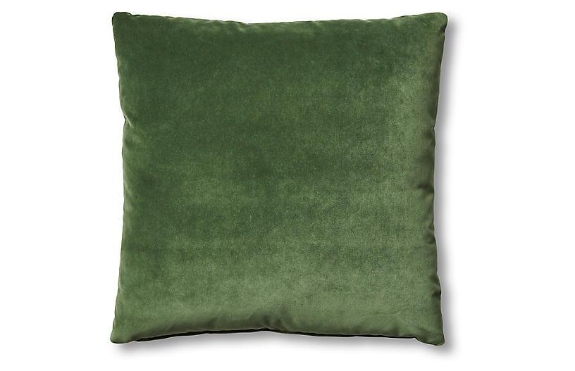 Hazel Pillow, Emerald Velvet