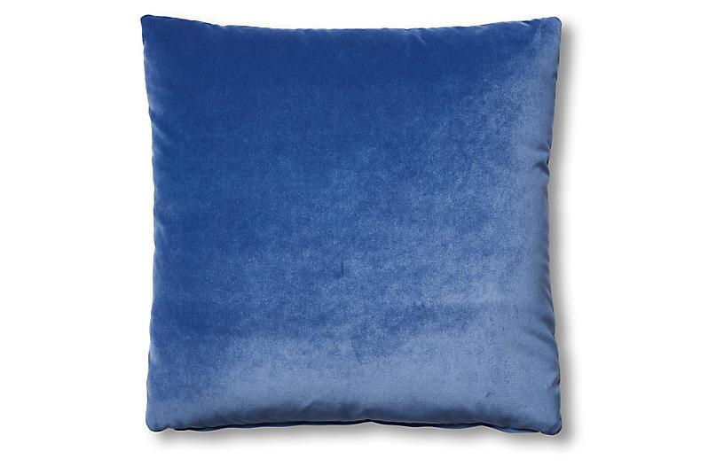 Hazel Pillow, Cobalt Velvet
