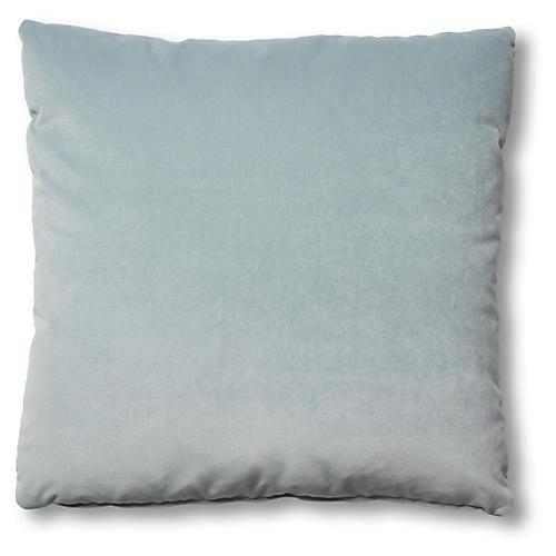 Hazel Pillow, Sky Blue Velvet