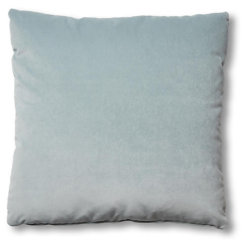 Hazel Pillow, Sky Blue Velvet