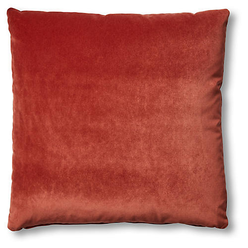 Hazel Pillow, Rust Velvet