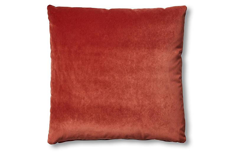 Hazel Pillow, Rust Velvet