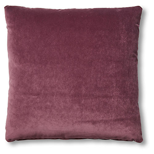 Hazel Pillow, Fig Velvet