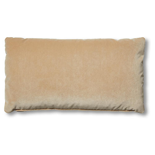 Ada Long Lumbar Pillow, Acorn Velvet
