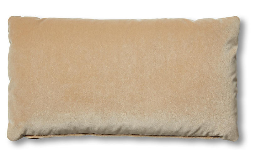 Ada Long Lumbar Pillow Acorn Velvet