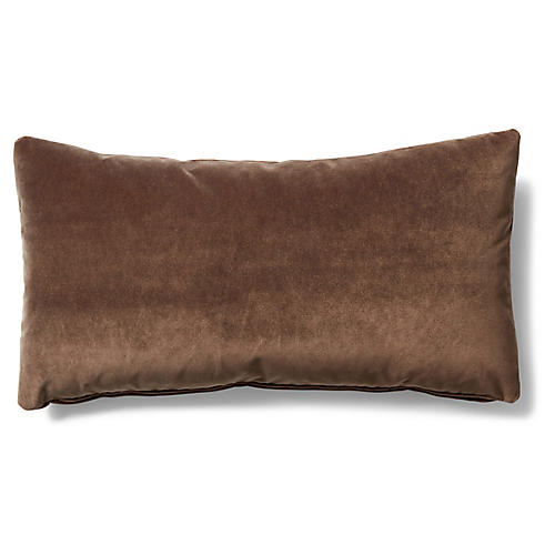 Ada Long Lumbar Pillow, Café Velvet