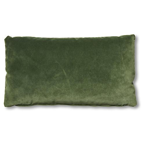 Ada Long Lumbar Pillow, Emerald Velvet