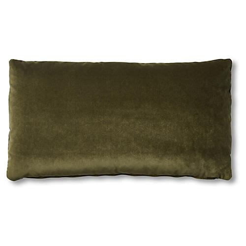 Ada Long Lumbar Pillow, Balsam Velvet