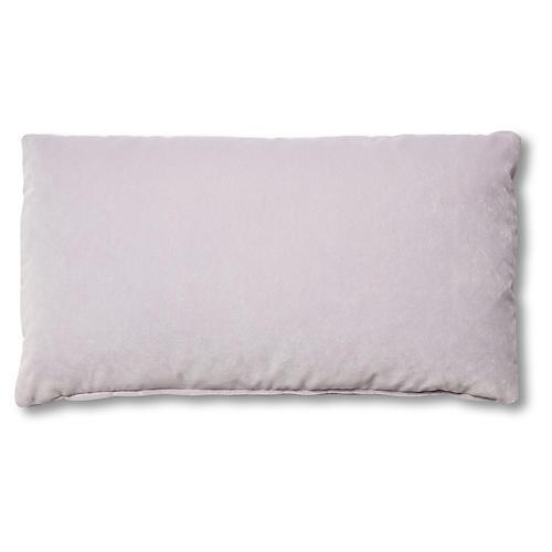 Ada Long Lumbar Pillow, Violet Velvet