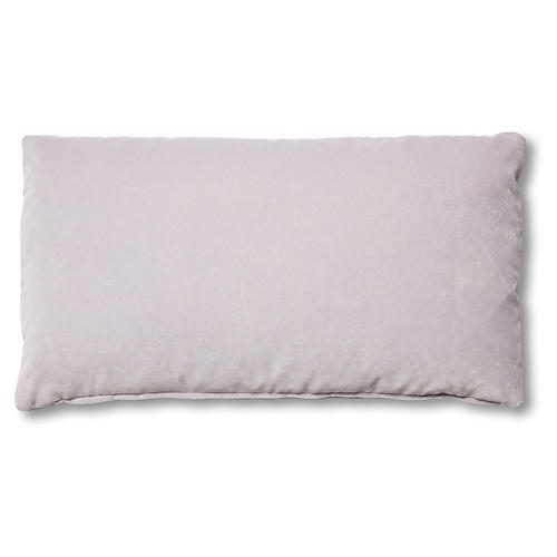 Ada Long Lumbar Pillow, Violet Velvet