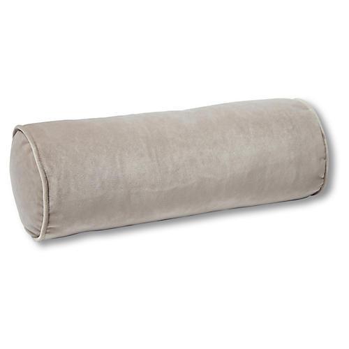 Anne Bolster Pillow, Pebble Velvet