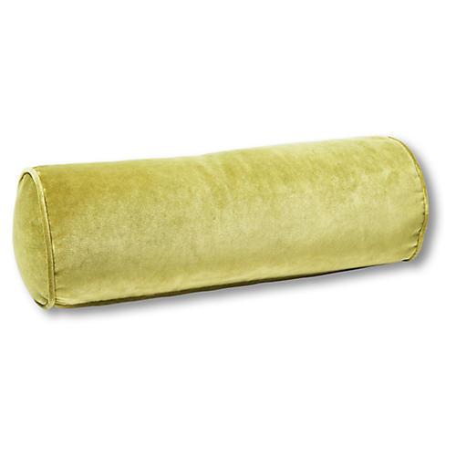 Anne Bolster Pillow, Chartreuse Velvet