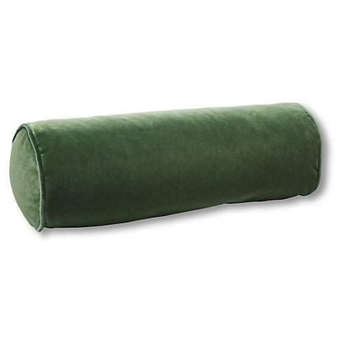 Anne Bolster Pillow, Emerald Velvet