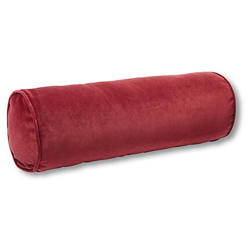 Anne Bolster Pillow, Currant Velvet