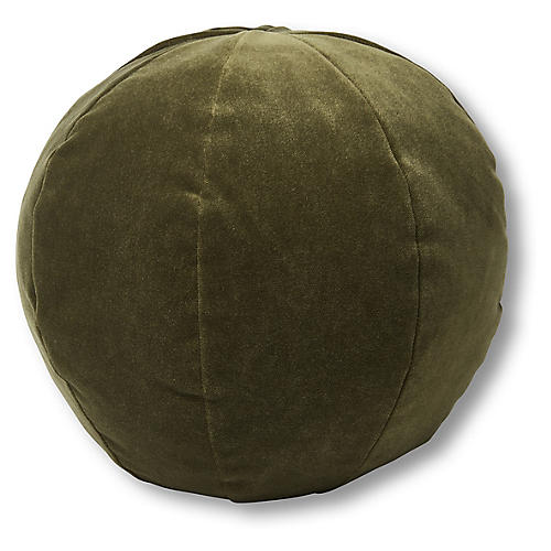 Emma 11x11 Ball Pillow, Balsam Velvet