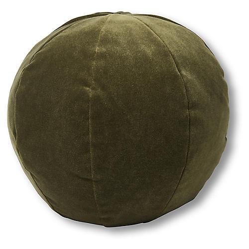 Emma 11x11 Ball Pillow, Balsam Velvet