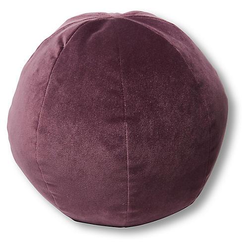 Emma 11x11 Ball Pillow, Fig Velvet