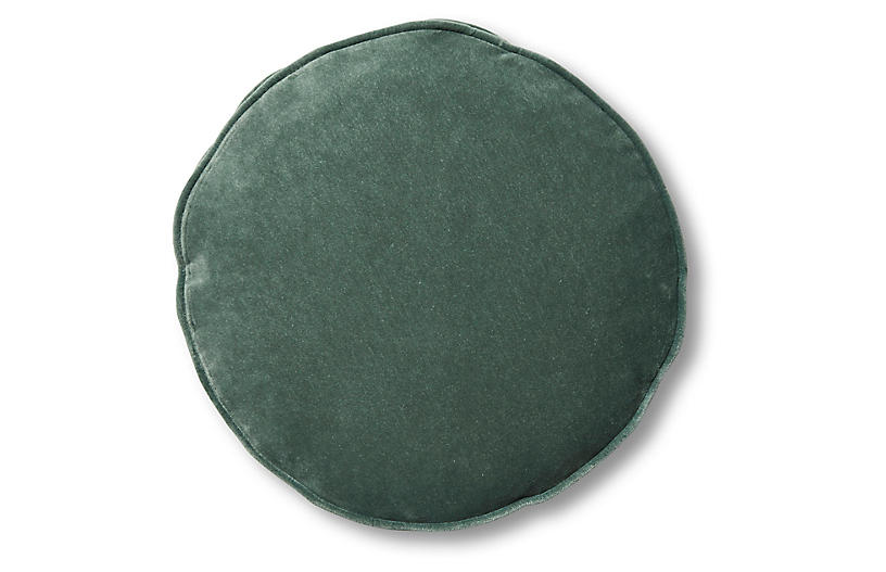 Claire 16x16 Disc Pillow, Jade Velvet