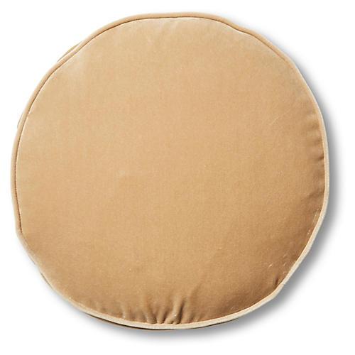 Claire 16x16 Disc Pillow, Acorn Velvet