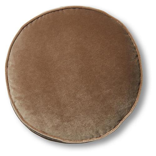 Claire 16x16 Disc Pillow, Toffee Velvet