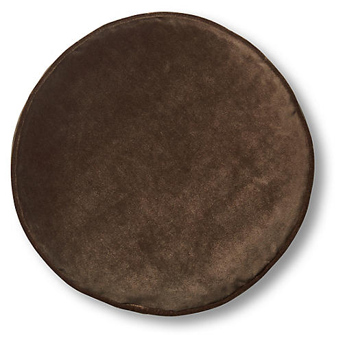 Claire 16x16 Disc Pillow, Café Velvet